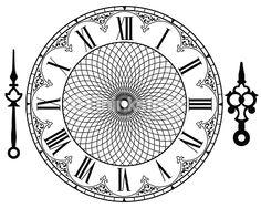 Vector Art : Vector vintage clock