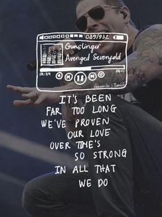 Haunting songs: Gunslinger - Avenged Sevenfold I hate wars. Love Songs Lyrics, Music Lyrics, Music Songs, Band Quotes, Lyric Quotes, Avenged Sevenfold Quotes, Lyrics Tumblr, Metal Songs, Messages