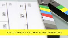 Plan videos is the most important things with choosing the right video editing software, editors, location, a professional team for making good footages Free Video Editing Software, Audio Mastering, Film School, Made Video, Create Website, You Videos, Editor, Video Production, How To Plan