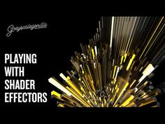 Cinema 4D - ASGGSG - Playing with The Shader Effector In Cinema 4D - YouTube