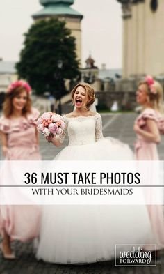 36 Must Take Wedding Photos With Your Bridesmaids ❤ Don't forget to include your bridesmaids in your wedding album. See more: http://www.weddingforward.com/must-take-wedding-photos-with-bridesmaids/ #wedding #photography