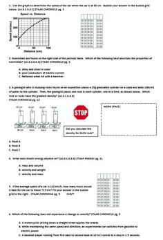 This STAAR Booklet Homework covers all science TEKS addressed on the 8th grade STAAR Test.  There are nine weeks of homework.  You can purchase the 8th Grade Science STAAR Booklet that goes along with this HW on TPT.