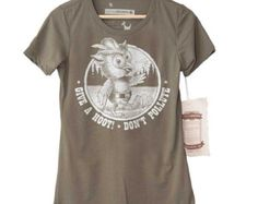 Bear Shirt. Forest Ranger Womens Tee in by HouseBrokenClothing