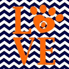 Auburn Tigers Printable / chevron
