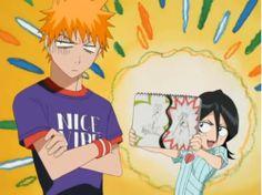 #Rukia's drawing and #Ichigo usual response. #Bleach