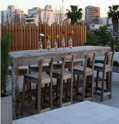 Plain and simple bar height table