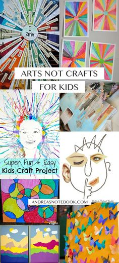 Tired of kid crafts? Introduce them to the arts! Check out this inspiration…