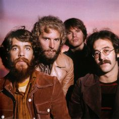 Creedence Clearwater Revival -- left to right: Doug Clifford, Tom Fogerty, John Fogerty, and Stu Cook.