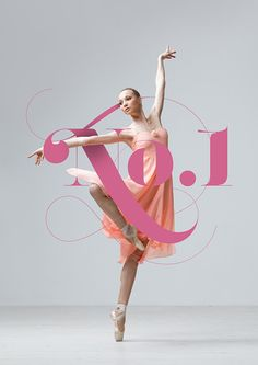 No.1 Dance Studio on Behance in Typographic