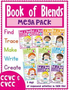 Blends Book Mega Pack - Phonics Consonant Blends $