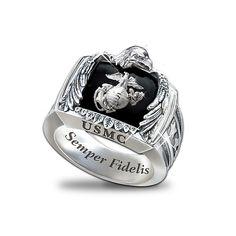 USMC Semper Fi Marine Corp Mens Ring Inspiration Pinterest