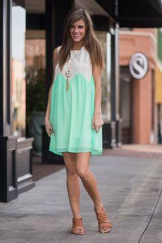 Stuck On You Dress, Mint - The Mint Julep Boutique