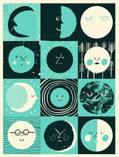 12 Moons | Illustration by Rob Hodgson