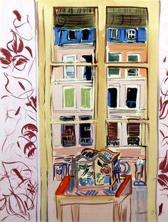 LAWRENCE LEE MAGNUSON: Raoul Dufy (1877-1953) Terrace, lithograph 55 x 42...
