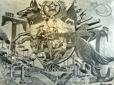 Türkiye Cumhuriyeti'nin 10.yılını kutlamak için hazırlanmış bir afiş...