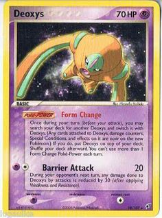 Pokemon Card EX Deoxys Non Holo Rare Deoxys 18/107 FREE Combined Shipping
