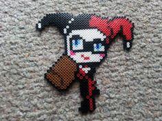 Harley Quinn perler beads by GwenniStars