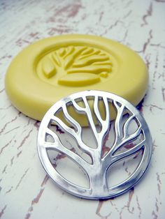 Tree of Life Circle - Flexible Silicone Mold - Push Mold, Polymer Clay Mold, Resin Mold, Craft Mold, PMC Mold