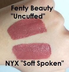 "Dupe Alert: Fenty Beauty ""Uncuffed"" vs NYX Liquid Suede ""Soft Spoken"" - Makeup Tips Beauty Dupes, Beauty Hacks, Diy Beauty, Beauty Makeup, Parfum La Rive, Maybelline, Nyx Liquid Suede, Make Up Dupes, Soft Spoken"
