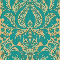 Kitchen Wallpaper Focal Point -->  Shop allen + roth Peacock Damask Wallpaper at Lowes.com