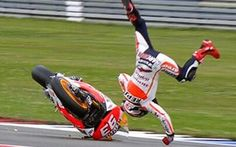 Marc Marquez....crash! Thats gonna sting in the morning!