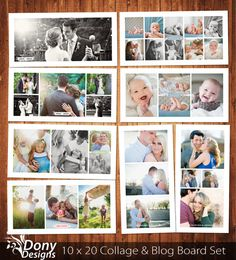 BUY 1 GET 1 FREE Blog Board & Collage Template by DonyDesigns, $10.00