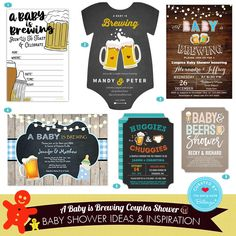 "How to Plan a Fun ""A Baby is Brewing"" Beer Themed Couples Shower. Your Complete Guide to Decorations, Favors, Invitations, and Comfort Food to Serve Guests. Baby Shower Game Prizes, Baby Shower Favors, Baby Shower Cakes, Baby Shower Themes, Mug Cupcake, Oktoberfest Beer, Couples Baby Showers, Couple Shower, Beer Mugs"