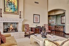 Luxury living at its finest Paradise Valley, Luxury Living, Fireplaces, Living Rooms, Gallery Wall, Relax, Lost, Home Decor, Fireplace Set