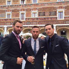Patrick, Brian, and Jesse at the Monte Carlo TV Festival