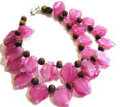 Portfolio: Pink Petals Bracelet