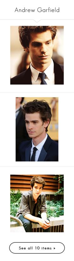 """""""Andrew Garfield"""" by marilia-sfontoura ❤ liked on Polyvore featuring andrew garfield, pictures, people, guys, hot guys, boys, actors, celebrities, hotguys and marvel"""