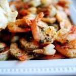 Spicy lemon garlic shrimp  Serve with a nice crusty loaf of bread to dip up the buttery drippings.  Yum!!