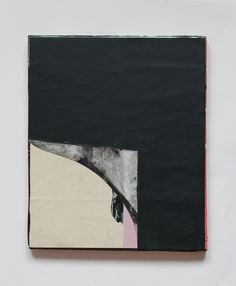 Jai Llewellyn Untitled (from the Domestic Series), 2015, oil based household paint, varnish, acrylic, found paper on found wood, 30 x 25 cm