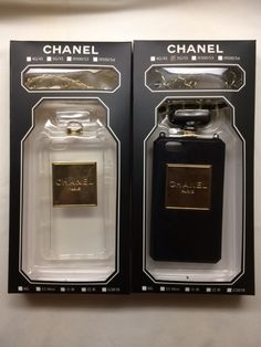 Chanel iPhone cases Black n Clear