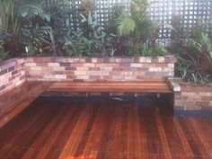 Newest Free Tropical Garden courtyard Concepts It's no wonder the reasons people wish to have a tropical garden. When you hear someone discussing Fairy Doors On Trees, Fairy Garden Doors, Hardwood Decking, Timber Deck, Merbau Decking, Sandstone Wall, Recycled Brick, Brick Garden, Landscaping Work