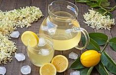 """How to make """" ElderFlower syrup"""" (fresh lemonade) Elderflower Syrup Recipe, Sweet Tea Cocktail, Iced Tea Cocktails, Natural Health Remedies, Fruit Juice, Recipe Collection, Great Recipes, Smoothies, Food And Drink"""