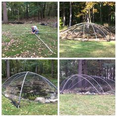 We constructed some leaf net structures recently for a few ponds. This helps protects the ponds from leaves and debris falling into the pond during the fall. Leaves and debris can cause muck build up that makes it difficult to clean and they also cause water clarity problems. #PoseidonPonds #Leafnets #Fall
