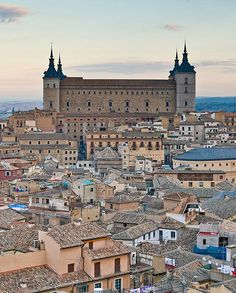 Alcazar of Toledo once used as a Roman palace in the century, it was restored under Charles I and Philip II of Spain in the Oh The Places You'll Go, Great Places, Places To Travel, Beautiful Places, Places To Visit, Toledo Spain, Ushuaia, Spain And Portugal, Gaudi
