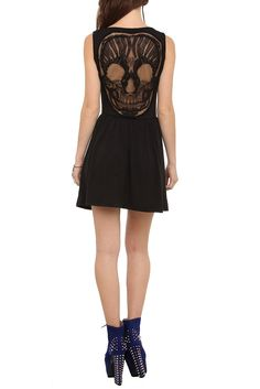 HotTopic Black Skull Back Applique Dress Dresses | Clothing