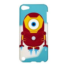 CUTE Despicable Me Minion Iron Man Avenger iPod Touch 5 Case iPod 5 Touch Case Cover The Avengers Minions Superhero Heroes