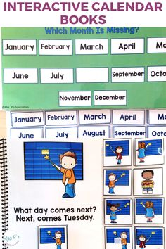 Use these interactive and adapted books to work on calendar concepts, time awareness and attention to task. They will easily fit into your lesson plans, morning meeting, direct instruction, math groups and centers, and work task boxes. They're a must have in autism classes, life skills programs and other self-contained classrooms. Life Skills Lessons, Teaching Life Skills, Teaching Special Education, Morning Meeting Activities, Self Contained Classroom, Direct Instruction, Nouns And Verbs, Work Task, Math Groups