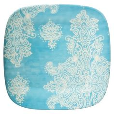 Home Blue Paisley Dinner Plates- Set of 8.Opens in a new window