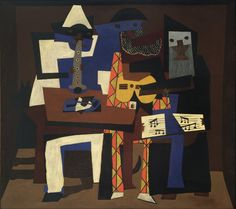 """We love our Nina Ricci collection that reflects the off-kilter angularity of Picasso's cubist period. Pablo Picasso """"Three Musicians"""""""