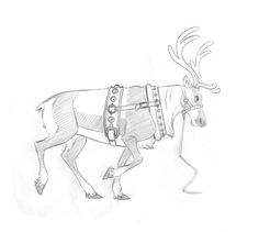 Creature Design, Various Artists, Drawing Reference, Reindeer, Coloring Pages, Character Design, Creatures, Sketches, Drawings