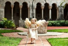 Pampas Grass flower girl wings...adorable!