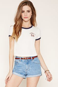 HDY Haoduoyi White Women Fashion Casual T-shirt Street Letter Print Basic Slim Tops Natural O Neck Female Summer Tees Short Outfits, Cute Outfits, Elite Model Look, Bridget Satterlee, Look Girl, Facon, Fashion Outfits, Womens Fashion, Fashion 2017