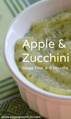 Baby Puree Recipes, Pureed Food Recipes, Healthy Recipes, Baby Zucchini Recipe, Zuchinni Baby Food, Apple Baby Food, Food Baby, Apple Puree For Baby, Baby Food Recipes Stage 1