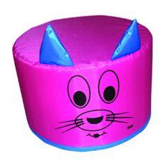 Mini Kedi Puflar (Minicik-422) Çocukların dinlenmeleri eğlenmeleri için Mini kedi puf koltuk minderi.30 çap 20 cm yükseklikte çocuk oyun minder mini kedi puff dinlence minderi.