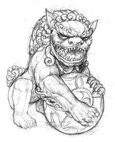 Chinese Guardian Lion Tattoo Designs <b>chinese guardian lion</b>  body  pinterest  <b>lion tattoo</b>, <b>lion</b> ...