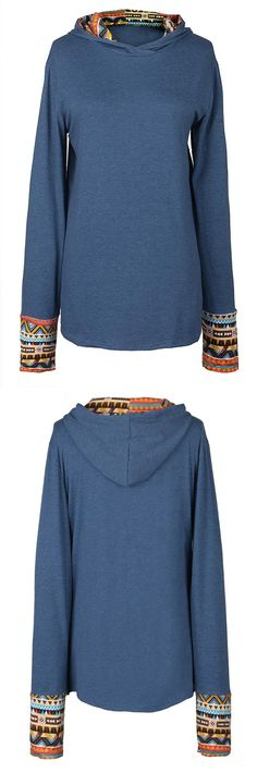 Ethnic printed hoodie to get with $21.99&7 Days Only! This layering piece gonna rock you over in this transitional season. Show off with Cupshe.com